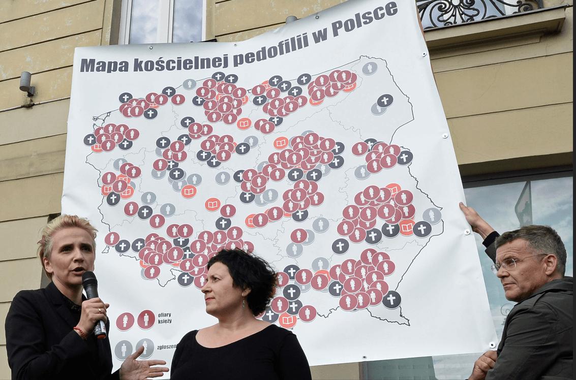 Abusos sexuales: Crean mapa de abusos de curas en Polonia
