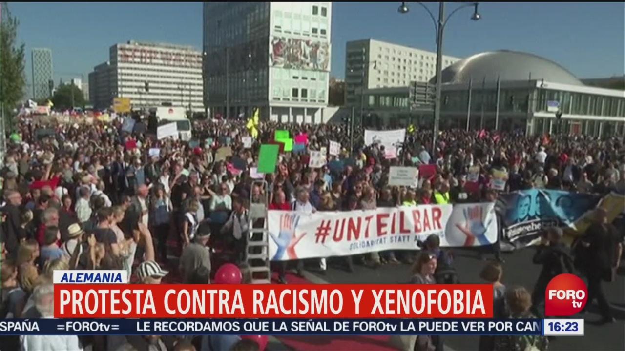 Protesta Contra Racismo Xenofobia Alemania