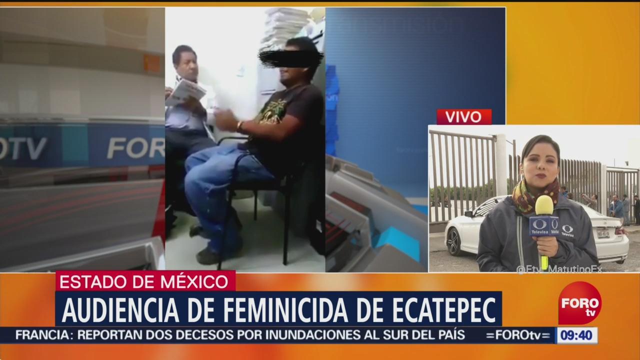 Realizan audiencia complementaria de feminicida de Ecatepec