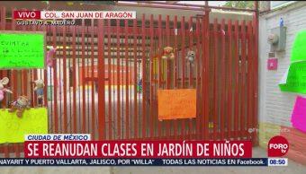 Reanudan clases en kinder de San Juan de Aragón