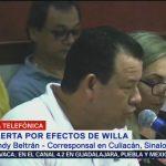 Reportan nublados en Sinaloa ante la llegada del huracán 'Willa'