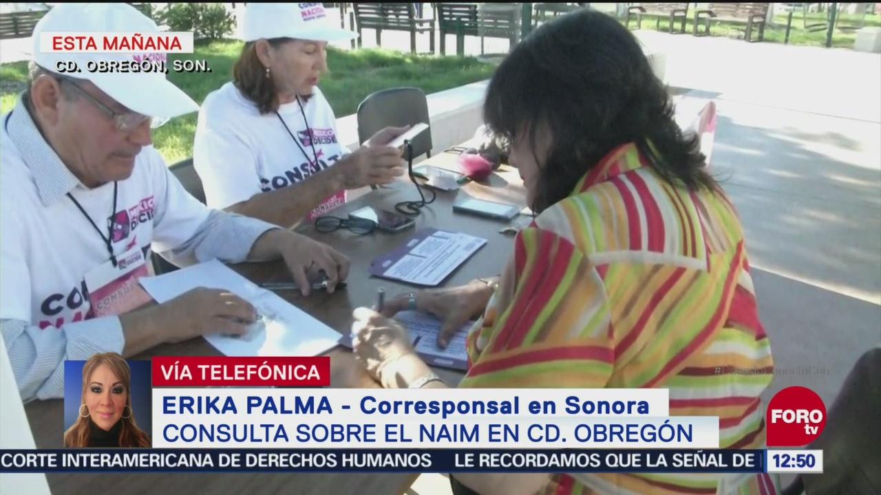 Reportan poca afluencia en casillas de Sonora para consulta de nuevo aeropuerto