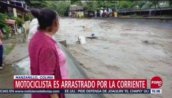 Rescatan a personas arrastradas por la corriente en Durango y Colima