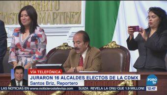 Rinden protesta 16 alcaldes electos de la CDMX