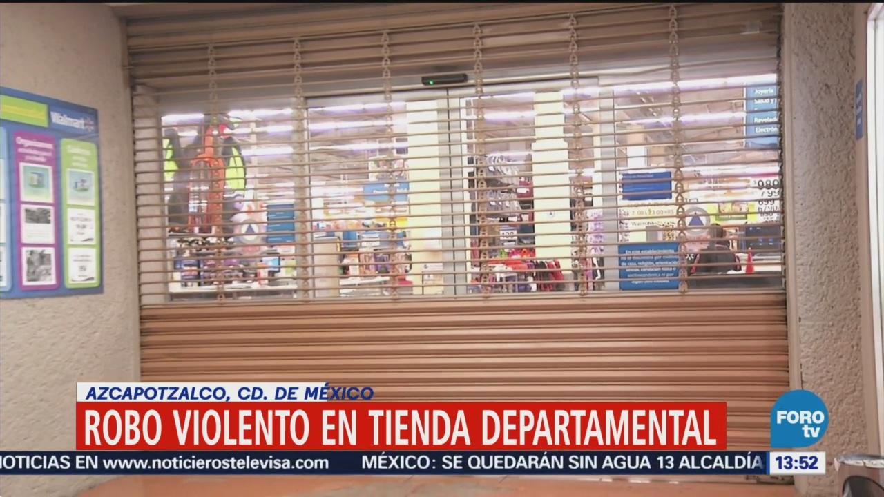 Roban celulares en tienda departamental de Azcapotzalco