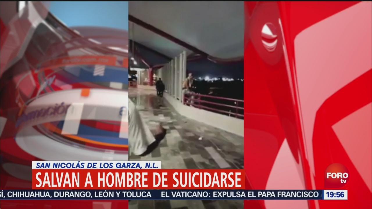Salvan Hombre Suicidarse San Nicolás De Los Garza, Nl