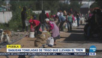 Saquean Tren Toneles Trigo Puebla Crimen