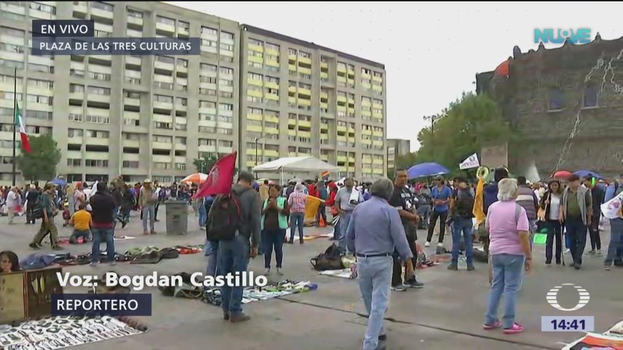 Se concentran en Plaza de las Tres Culturas para realizar marcha