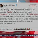 Se instala comité de emergencia para atender estados afectados por Willa