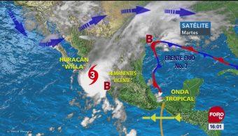 En Sinaloa, Jalisco y Colima sigue la alerta por Willa; autoridades recomiendan seguir las indicaciones para evitar pérdida de vidas humanas
