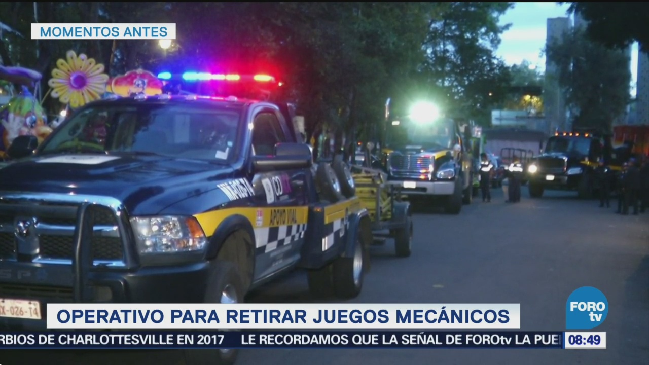 SSP retira juegos mecánicos en colonia Morelos