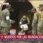Suman 11 muertos por inundaciones en Oaxaca