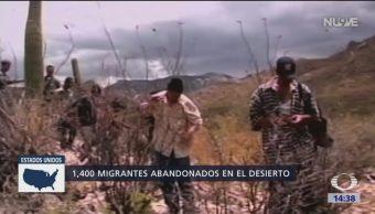 Traficantes de personas abandonan a migrantes
