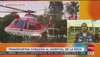 Transportan corazón a Hospital La Raza