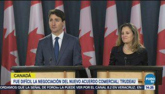Trudeau dice USMCA es bueno para Canadá