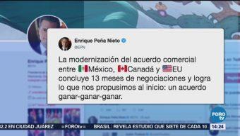 USMCA logra acuerdo ganar-ganar-ganar: Peña Nieto