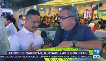 Viernes Culinario Tacos de carnitas, quesadillas