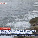 Willa dejará alto oleaje, lluvia y viento en Jalisco