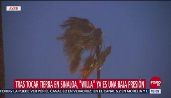 'Willa' ya es una baja presión, continúa la alerta