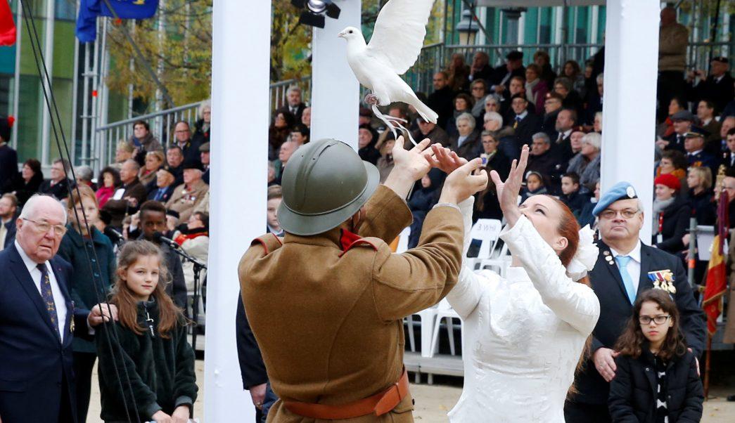 primera guerra mundial comienza ceremonia en recuerdo armisticio