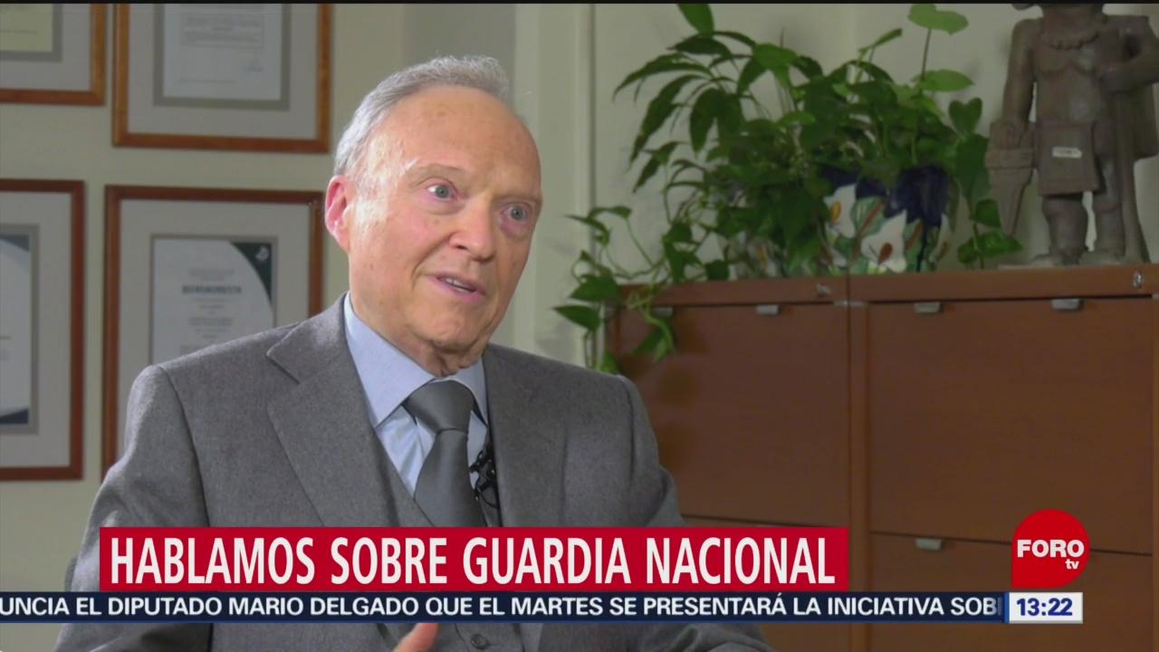 Alejandro Gertz Manero habla sobre la Guardia Nacional