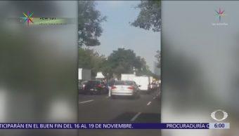 Asaltante roba a automovilista en avenida Constituyentes, CDMX