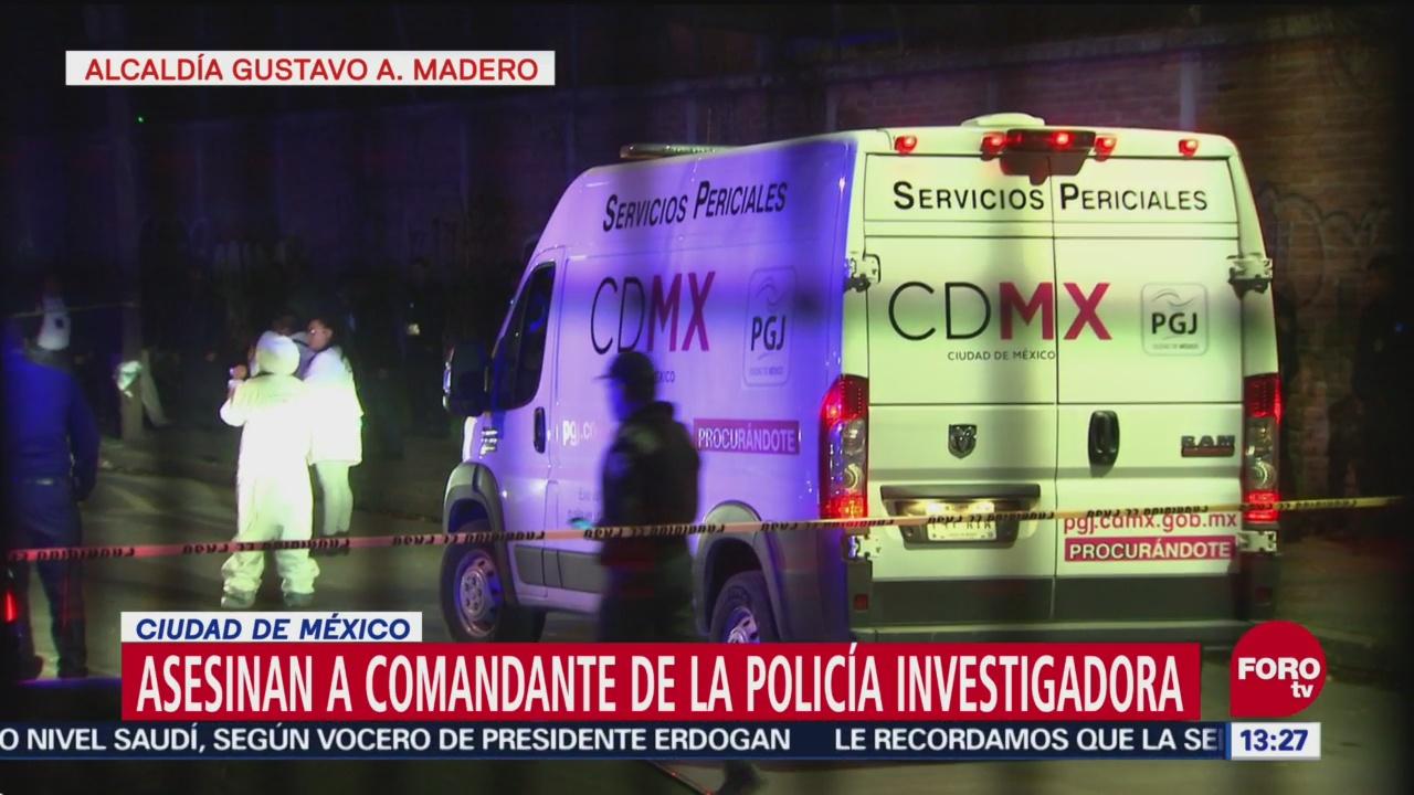 Asesinan a comandante de la Policía de Investigación