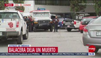 Balacera por asalto a camioneta de valores en Naucalpan