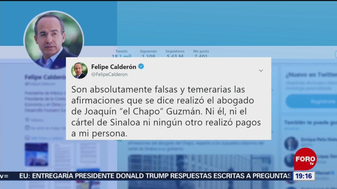 Calderón Epn Rechazan Señalamientos Defensa El Chapo