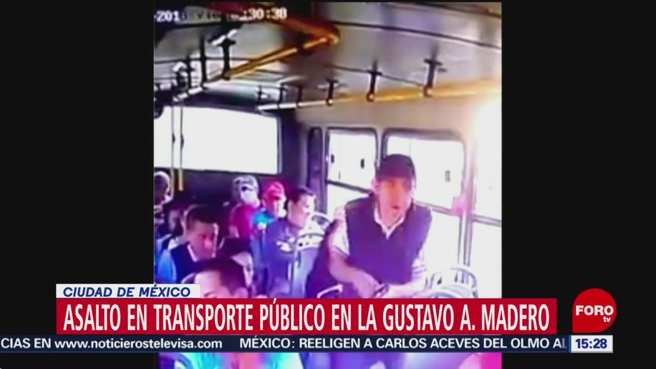 asalto en transporte público GAM Gustavo A. Madero Cámaras de seguridad