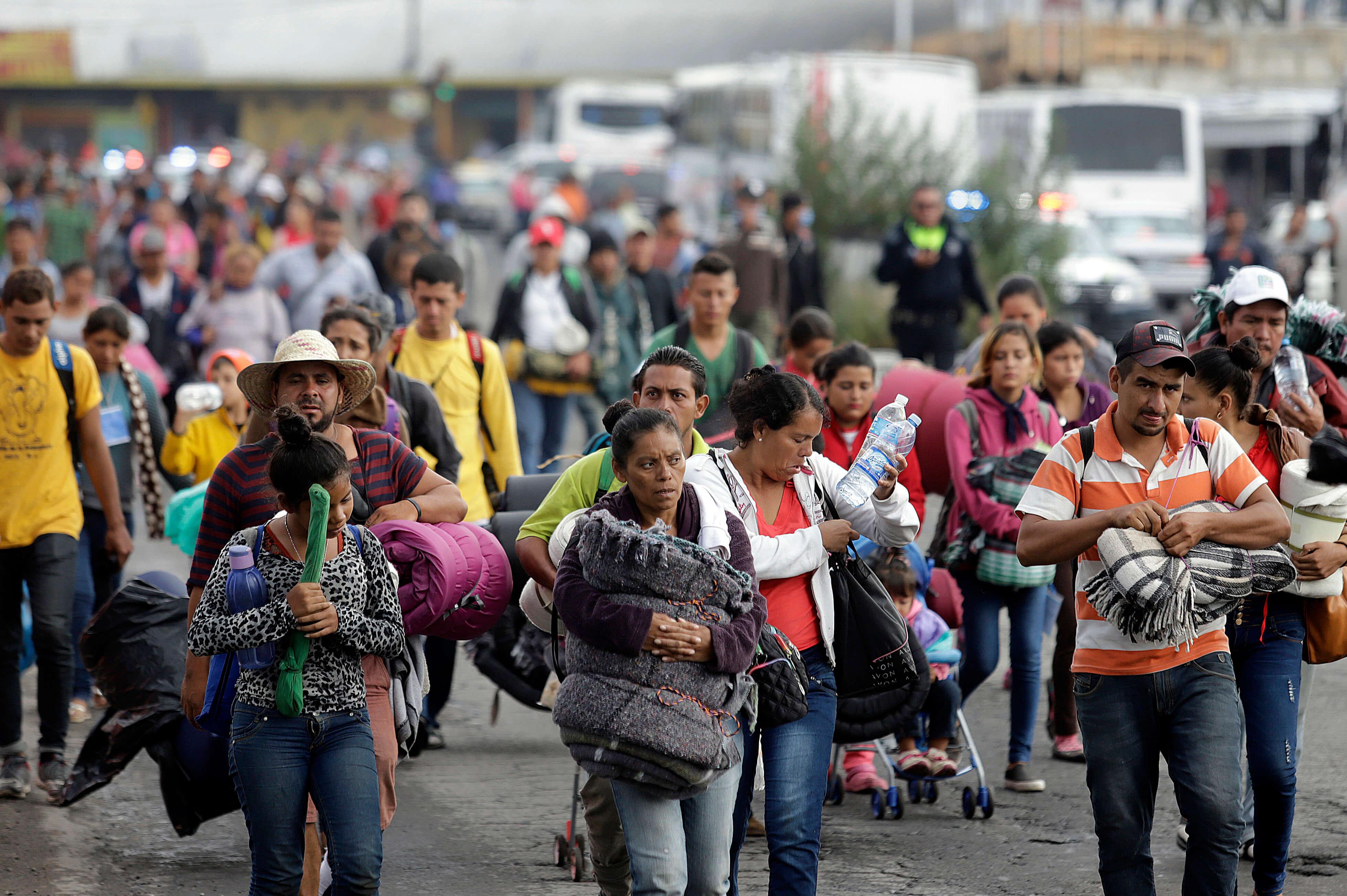 Caravanas de migrantes se extienden en CDMX, Puebla, Veracruz y Chiapas