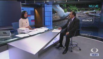 José Trinidad Larrieta explica informe sobre caso iguala