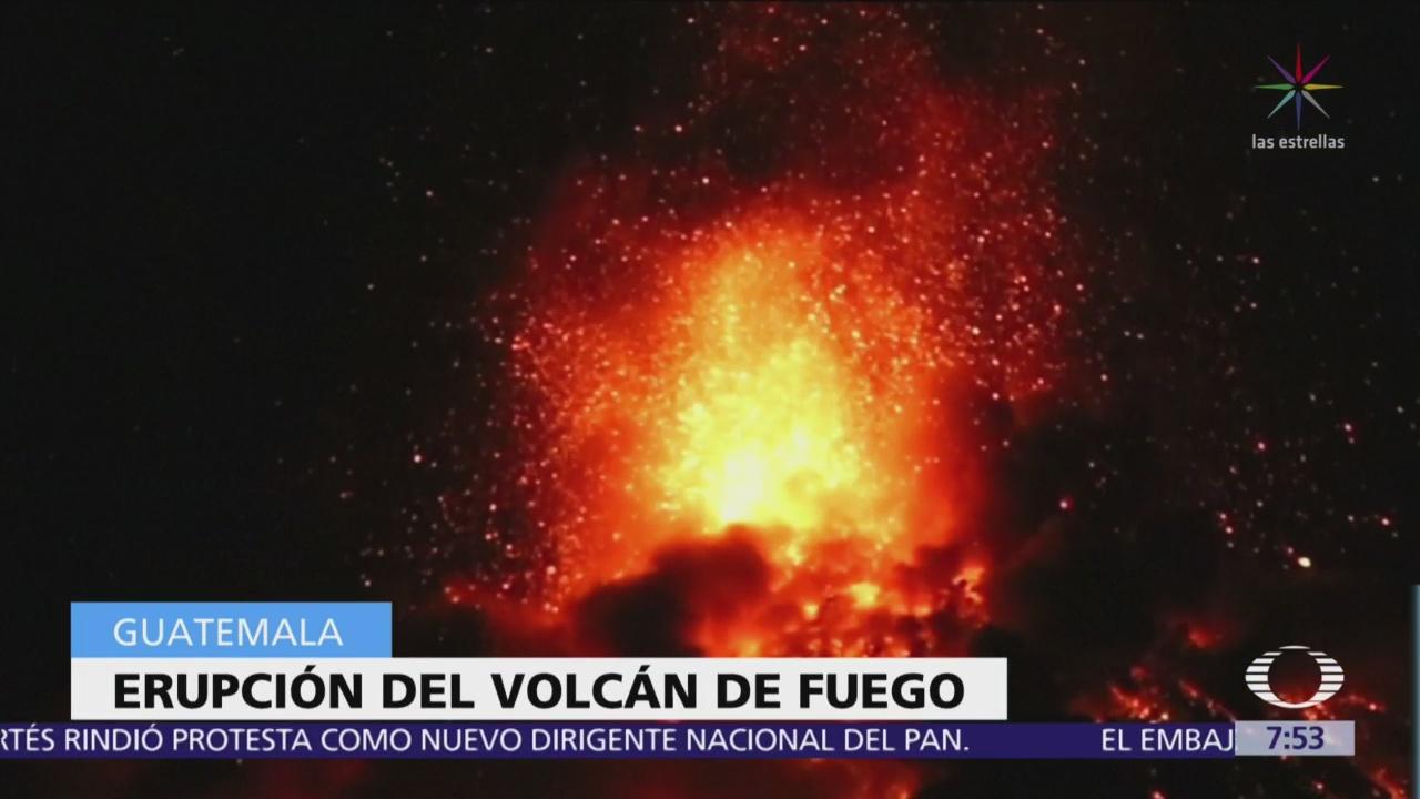 Concluye quinta erupción del Volcán de Fuego en 2018