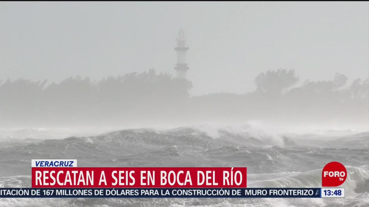 Confirman rescate de seis personas en Boca del Río, Veracruz