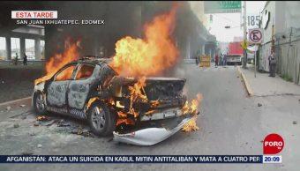 Crónica Enfrentamientos Bloqueos San Juanico Edomex