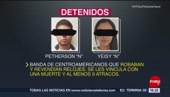 Detienen a banda de roba relojes en Puebla