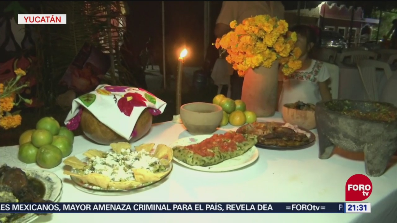 Celebran Hanal Pixán Comida Ánimas Yucatán