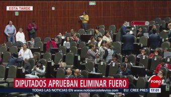 Diputados aprueban eliminar el fuero