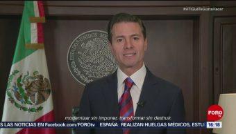 Enrique Peña Nieto se despide de Mëxico en un mensaje