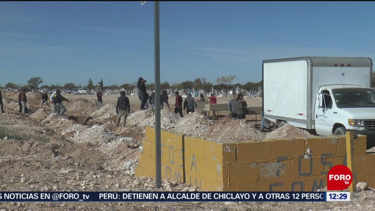 Envían a fosa común 25 cuerpos no reclamados en Chihuahua