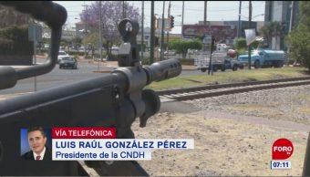 Raúl González Pérez: Conducción de la seguridad debe ser civil