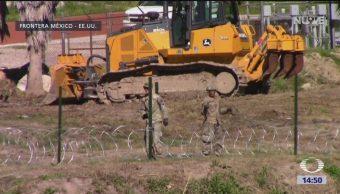 EU instala mallas en frontera de Texas
