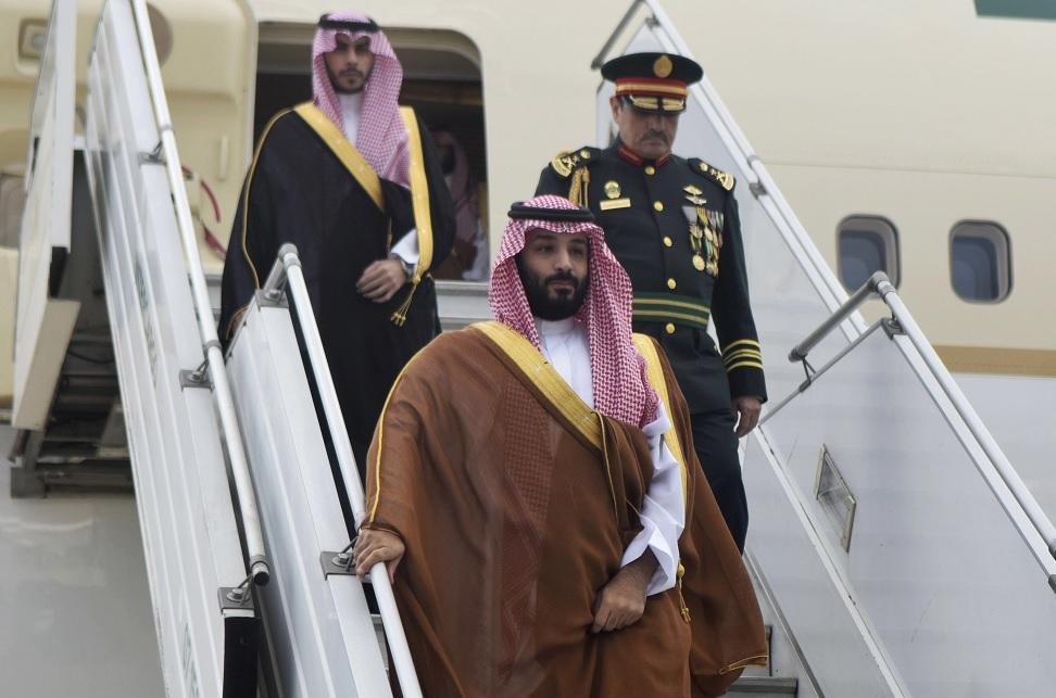 Príncipe de Arabia Saudita llega a cumbre del G20