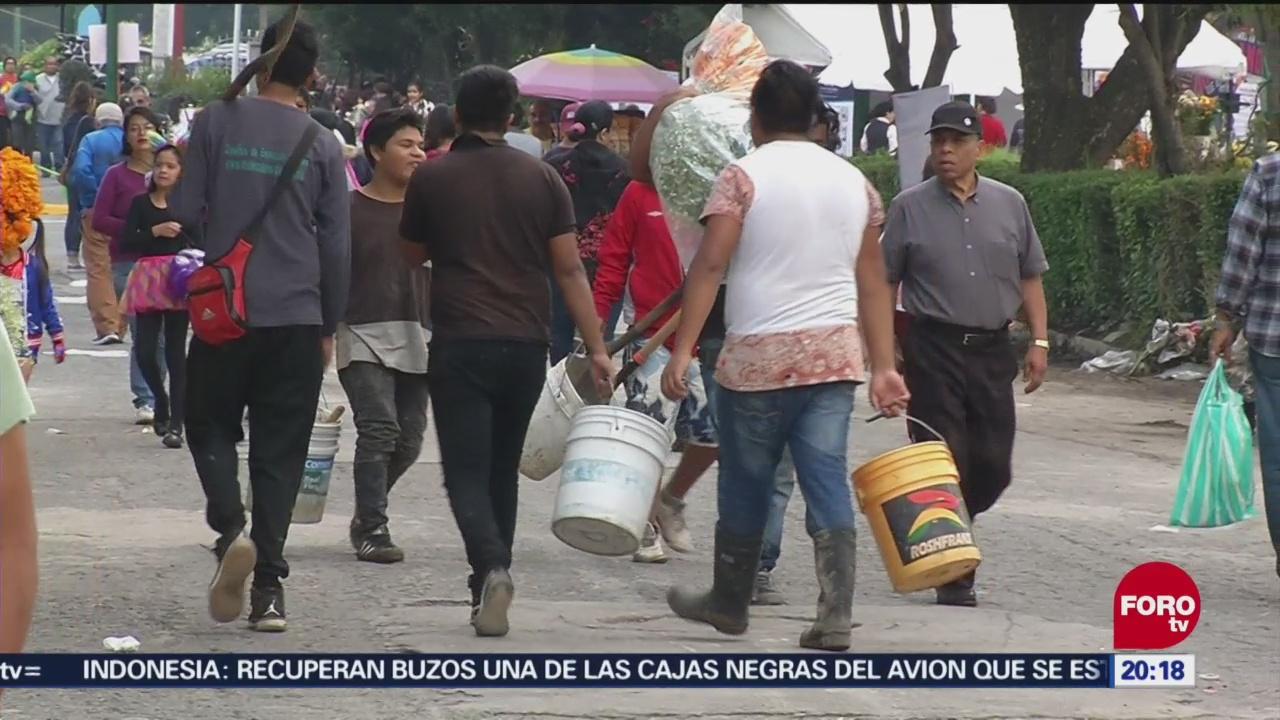 Garantizan Abasto Agua Panteones Cdmx Día Muertos