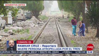 Hombre muere tras ser arrollado por tren en alcaldía GAM