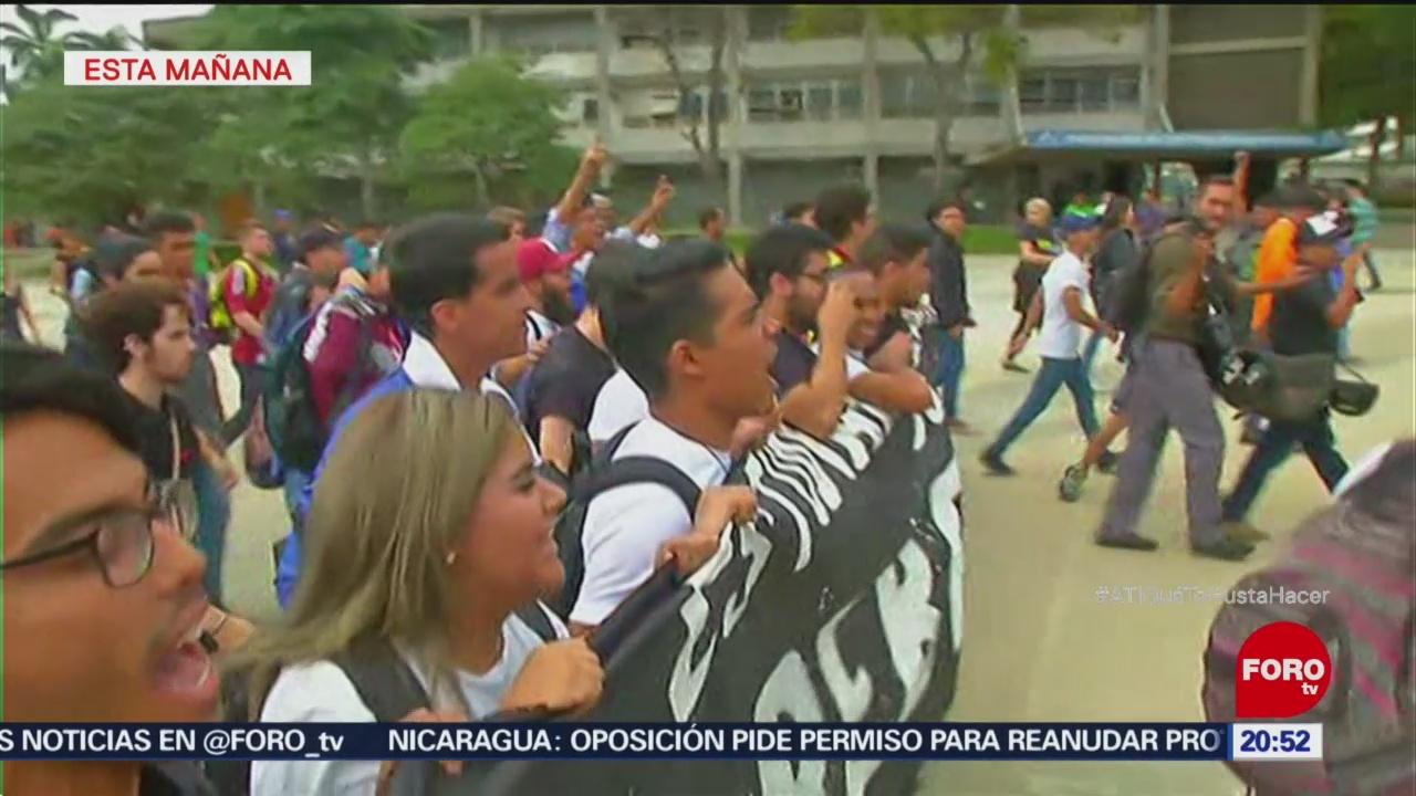 Impiden Marcha Estudiantil En Venezuela Manifestaciones
