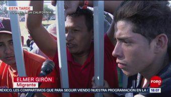 Miles de migrantes centroamericanos llegan a Tijuana