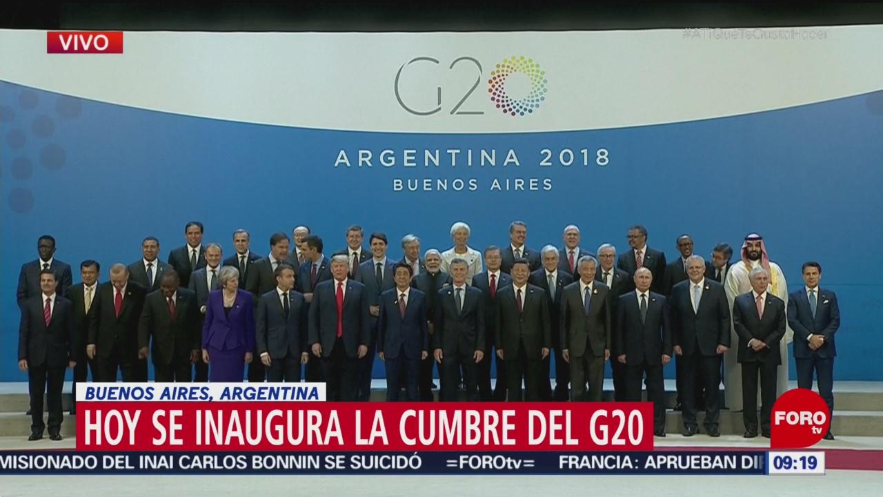 Líderes reunidos en cumbre G-20 se toman foto oficial