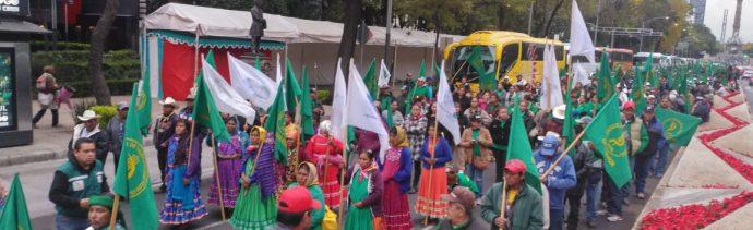 Llegan campesinos de diferentes partes de México a la CDMX