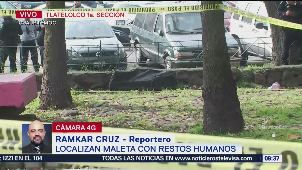 Localizan maleta con restos humanos en Tlatelolco, CDMX